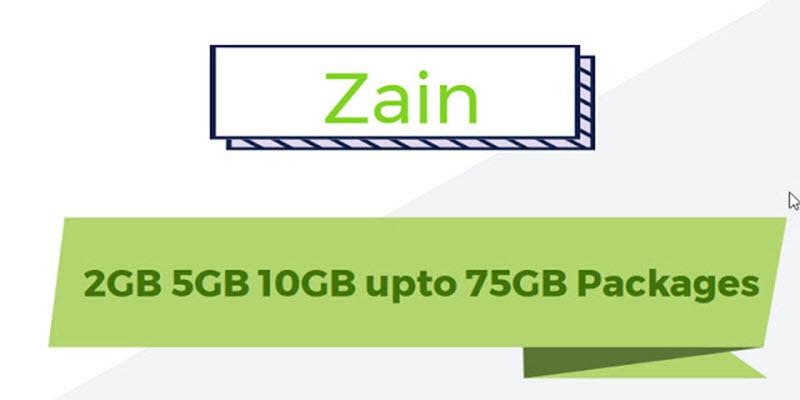 2GB 5GB 10GB upto 75GB Packages Zain