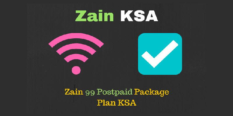 Zain 99 Postpaid Package Plan KSA