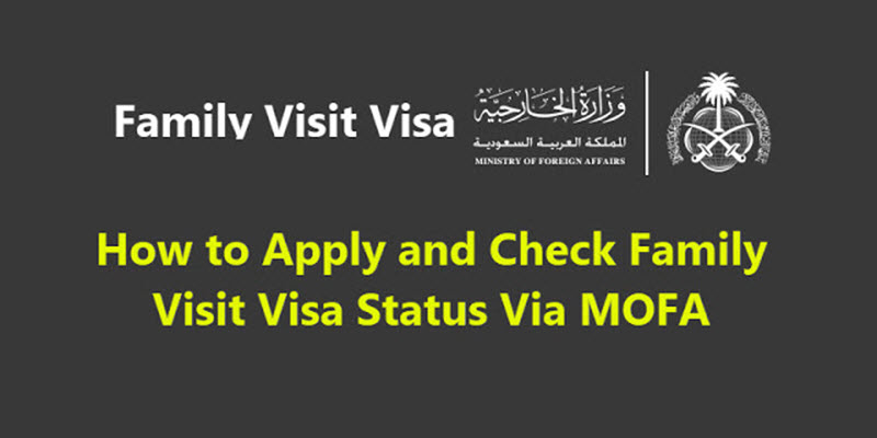 Family visit visa process KSA