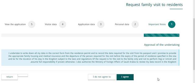 Request family visit visa ksa via mofa