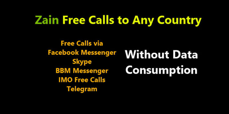 Zain Free calls over the internet