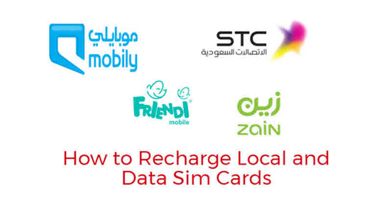 Recharge Zain stc mobily and friendi