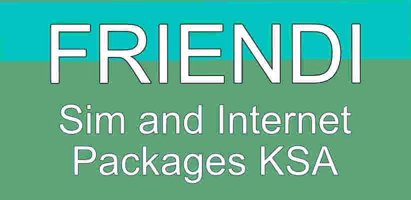 Friendi Sim and Internet Packages KSA