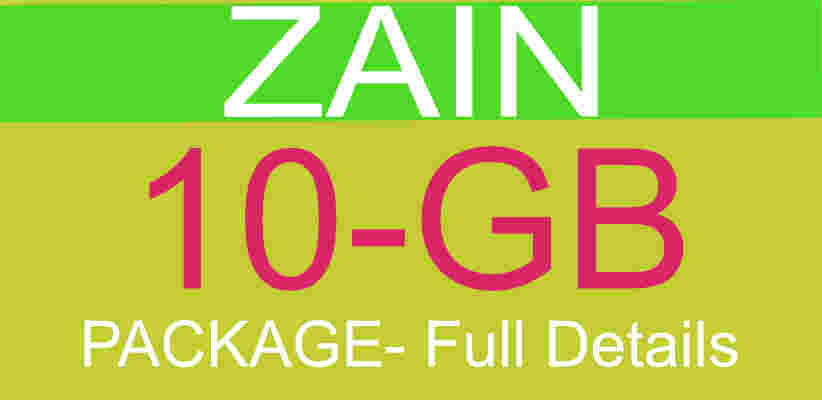 Zain 10GB Package - Full details