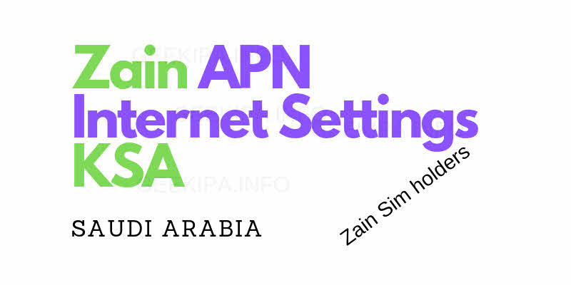 Zain Apn Internet Configuration Settings Ksa Expatsa