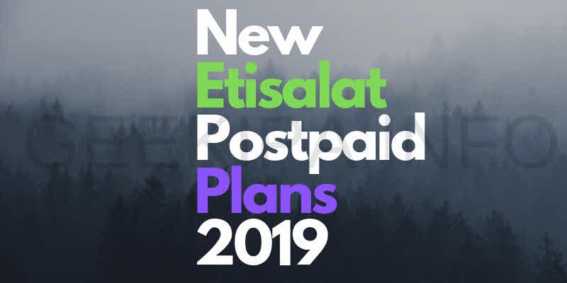 New Etisalat Postpaid Plans 2019