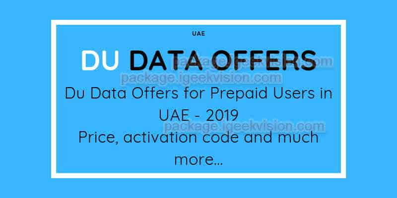 Du Data Offers for Prepaid Users in UAE