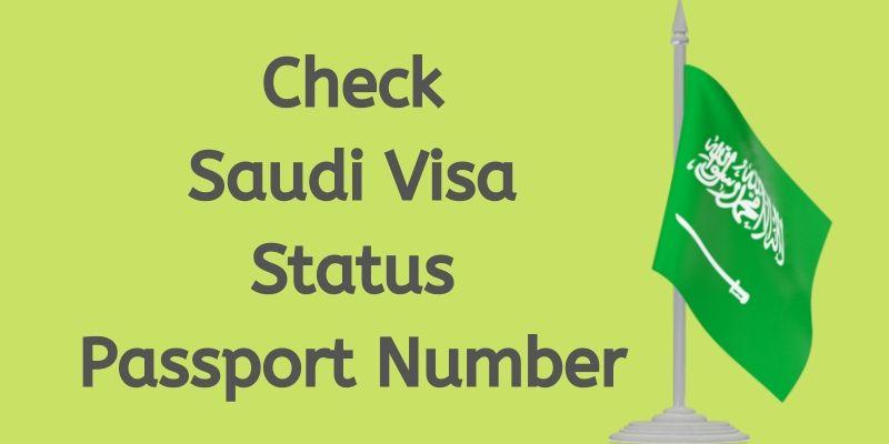 Check Saudi Visa Status with Passport Number